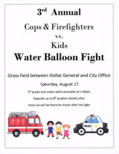 Cops & Firefighters vs Kids Water Balloon Fight